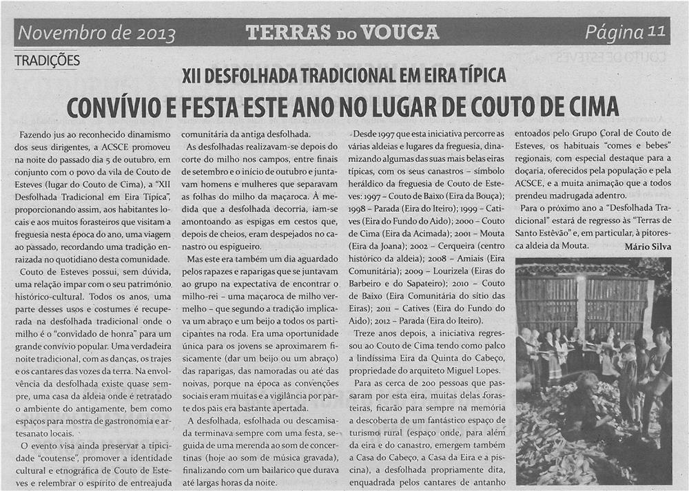 TV-nov13-p11-Convívio e festa este ano no lugar de Couto de Cima