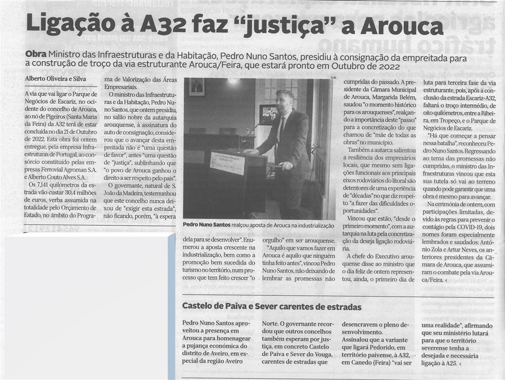 DA-04jun.'20,p.10-Ligação à A32 faz justiça a Arouca : Castelo de Paiva e Sever carentes de estradas.jpg