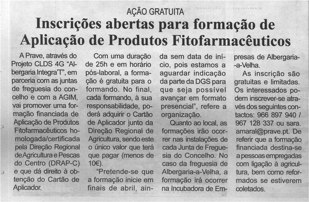 BV-1.ªabr.'21-p.12-Inscrições abertas para formação de Aplicação de Produtos Fitofarmacêuticos.jpg