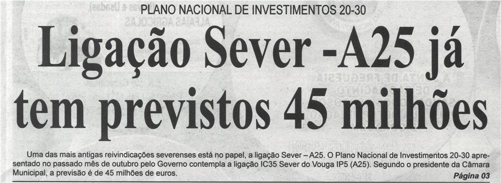 BV-2.ªnov.'20-p.1-Ligação Sever - A25 já tem previstos 45 milhões.jpg