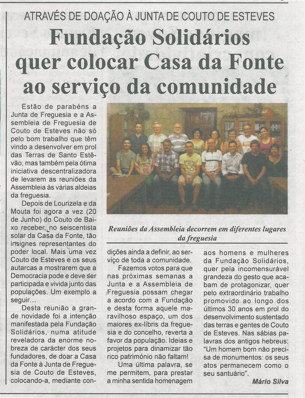 BV-2.ªjul.'15-p.8-Fundação Solidários quer colocar Casa da Fonte ao serviço da comunidade : através da doação à Junta de Couto de Esteves.jpg