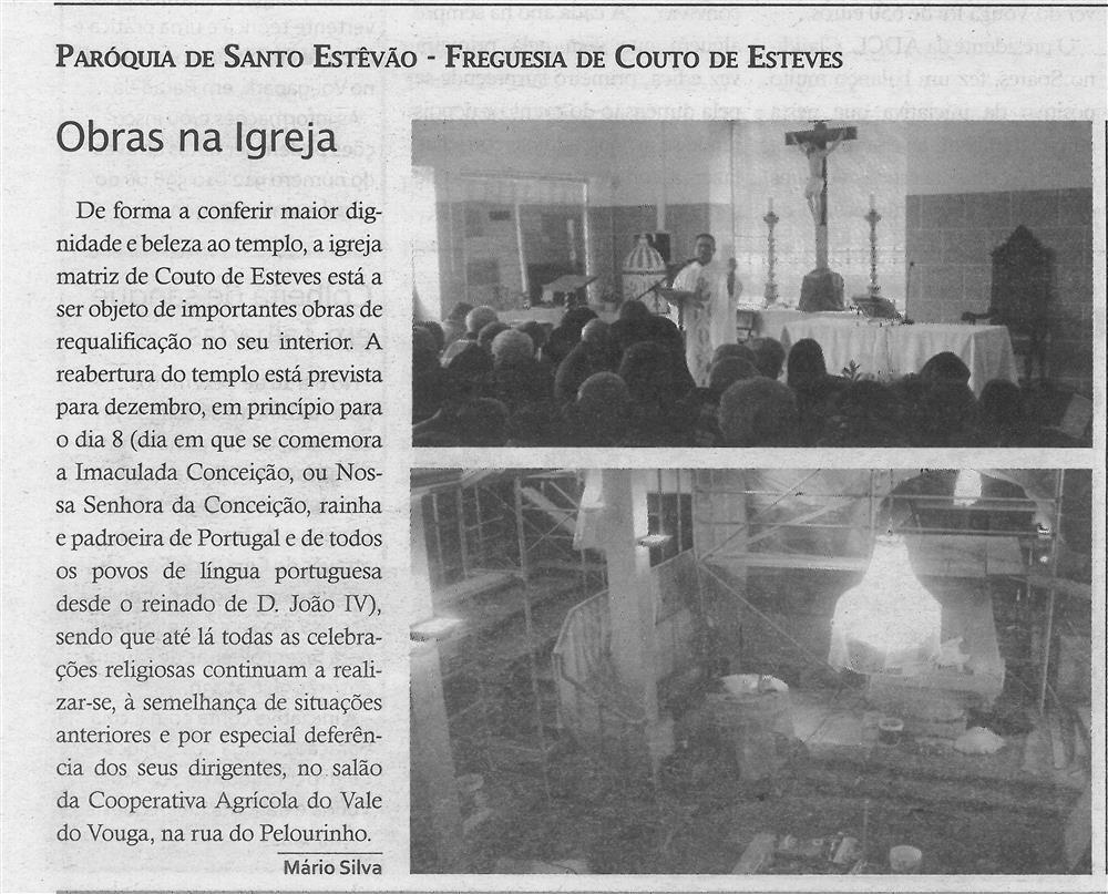 TV-dez.'18-p.9-Obras na Igreja : paróquias e freguesias : Paróquia de Santo Estêvão, Freguesia de Couto de Esteves.jpg