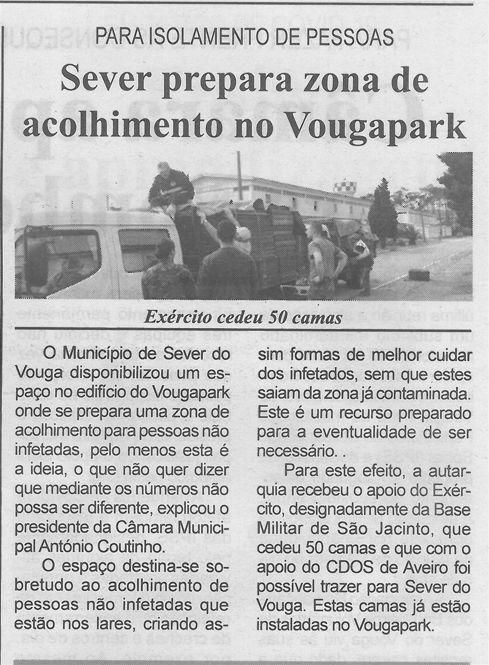 BV-2.ªabr.'20-p.4-Sever prepara zona de acolhimento no VougaPark para isolamento de pessoas : Exército cedeu 50 camas.jpg