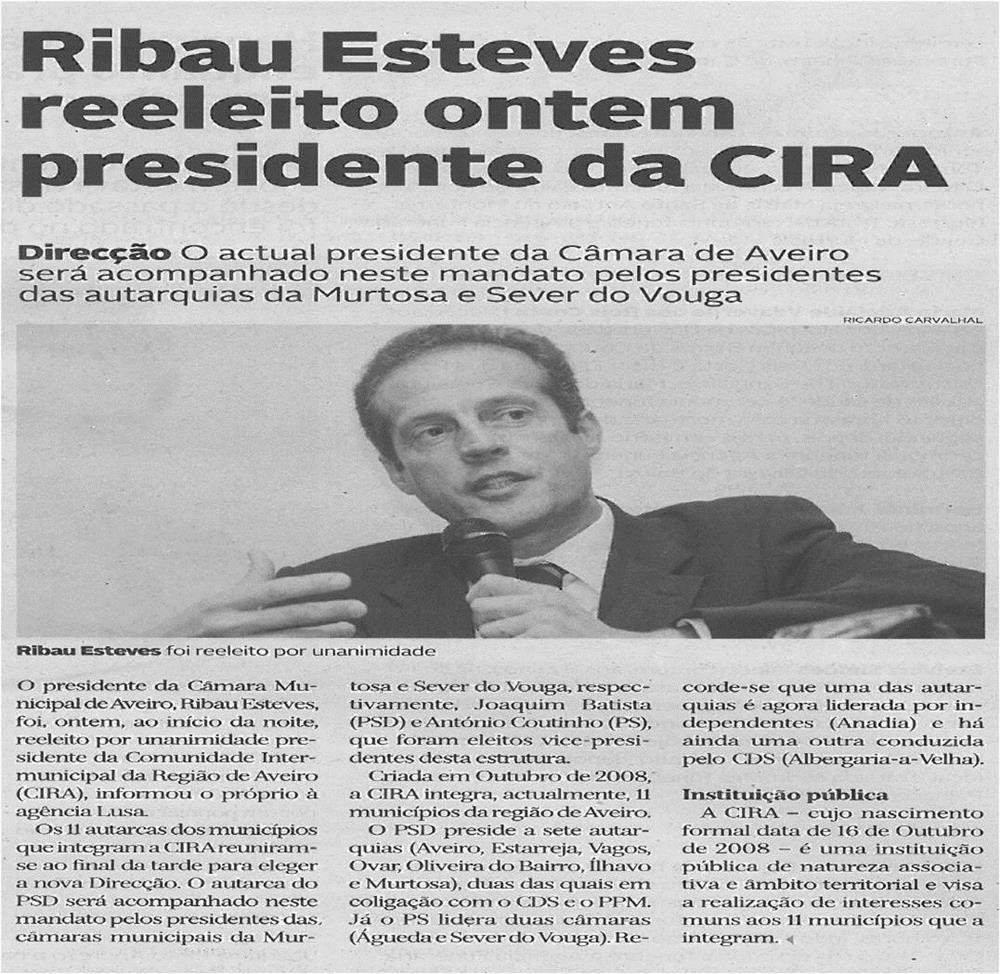 DA-30out13-p7-Ribau Esteves reeleito ontem Presidente da CIRA