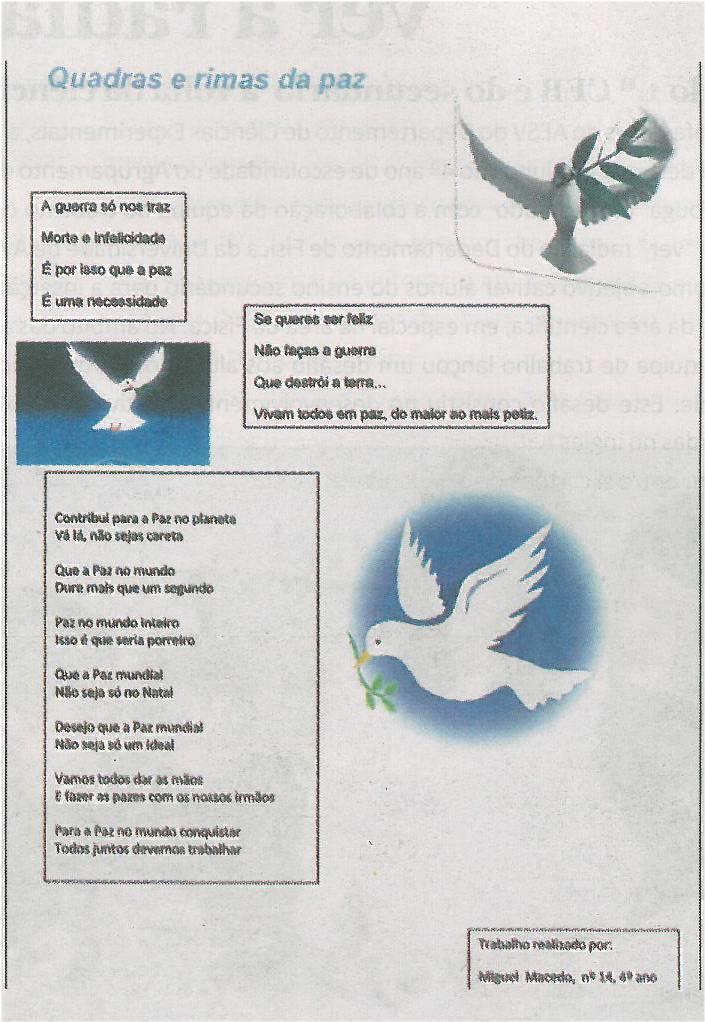 JE-mar14-p2-A paz : 1.º CEB Senhorinha : quadras e rimas da paz