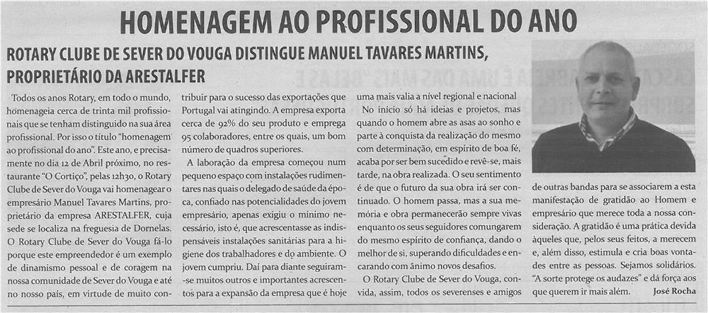 JPEG: TV-abr14-p4-Homenagem ao profissional do ano - Rotary Clube de Sever do Vouga distingue Manuel Tavares Martins - proprietário da Arestalfer