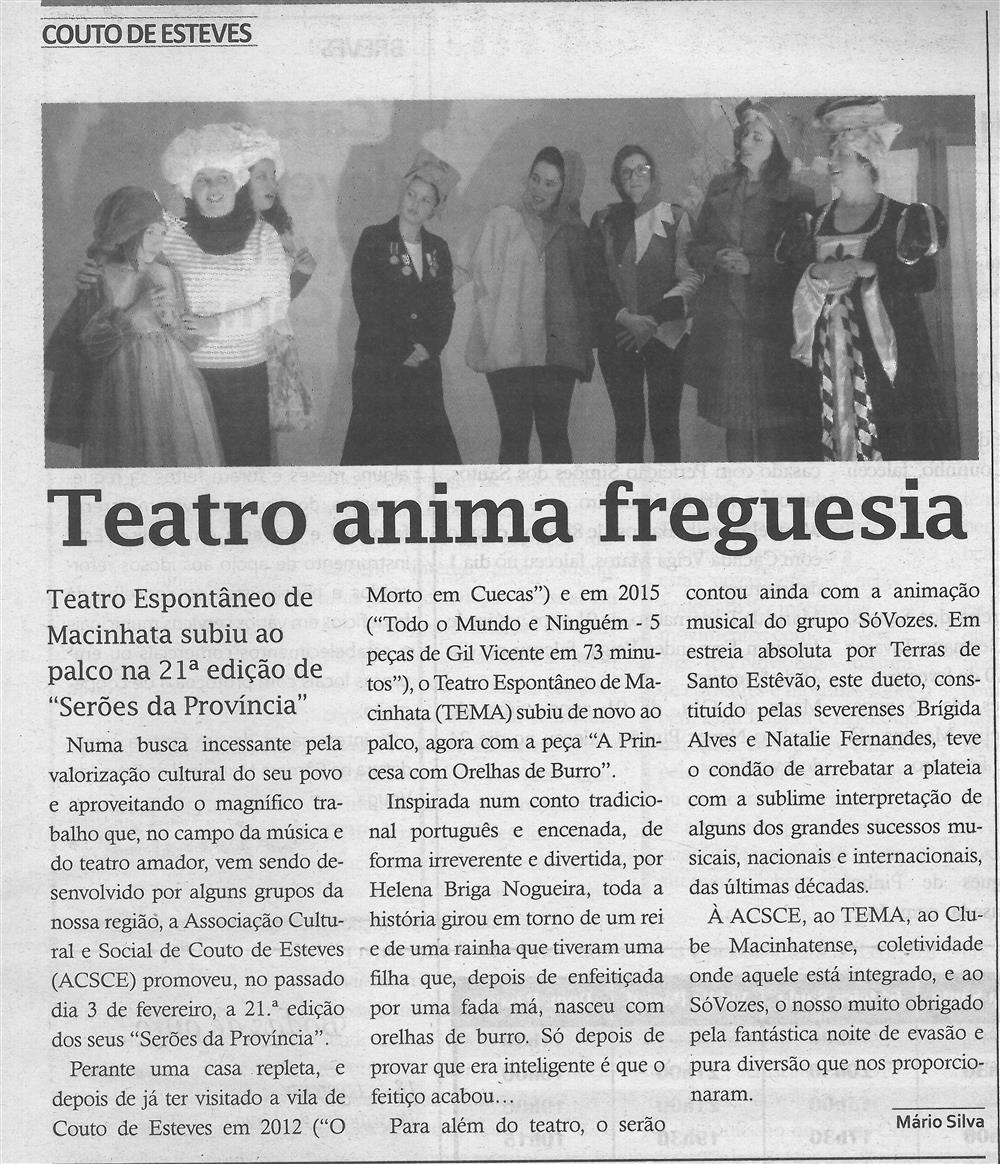 TV-mar.'18-p.9-Teatro anima freguesia : Teatro Espontâneo de Macinhata subiu ao palco na 21.ª edição de Serões da Província.jpg