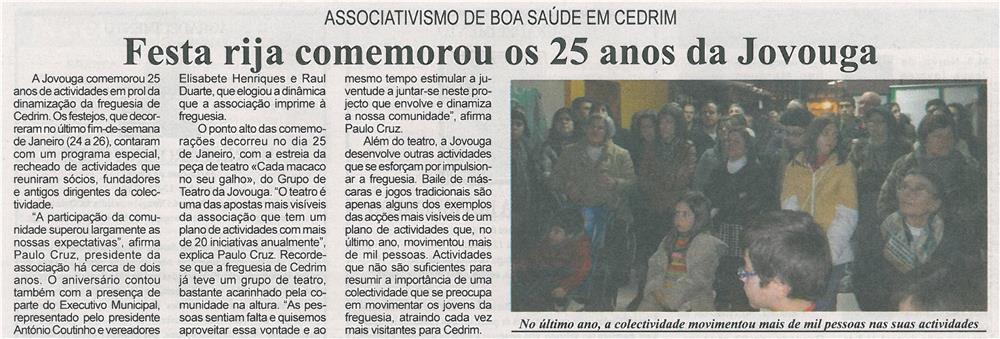 BV-1ªfev'14-p16-Festa rija comemorou os 25 anos da Jovouga