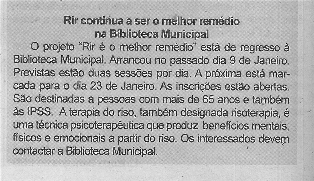 BV-2.ªjan.'20-p.6-Rir continua a ser o melhor remédio na Biblioteca Municipal.jpg