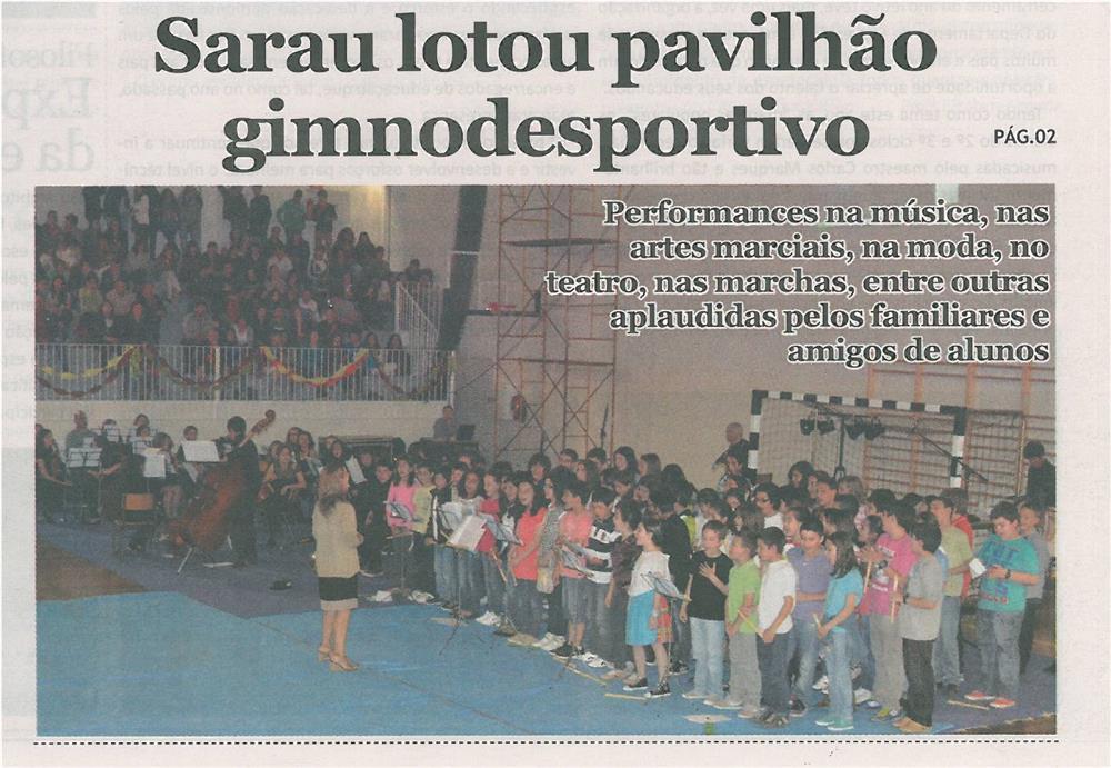 JE-jul13-p1-Sarau lotou pavilhão gimnodesportivo