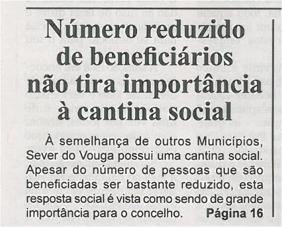 BV-2ªq-outubro12-p1-Número reduzido de beneficiários não tira importância à cantina social.jpg