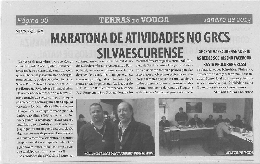 TV-jan13-p8-Maratona de atividades no GRCS Silvaescurense
