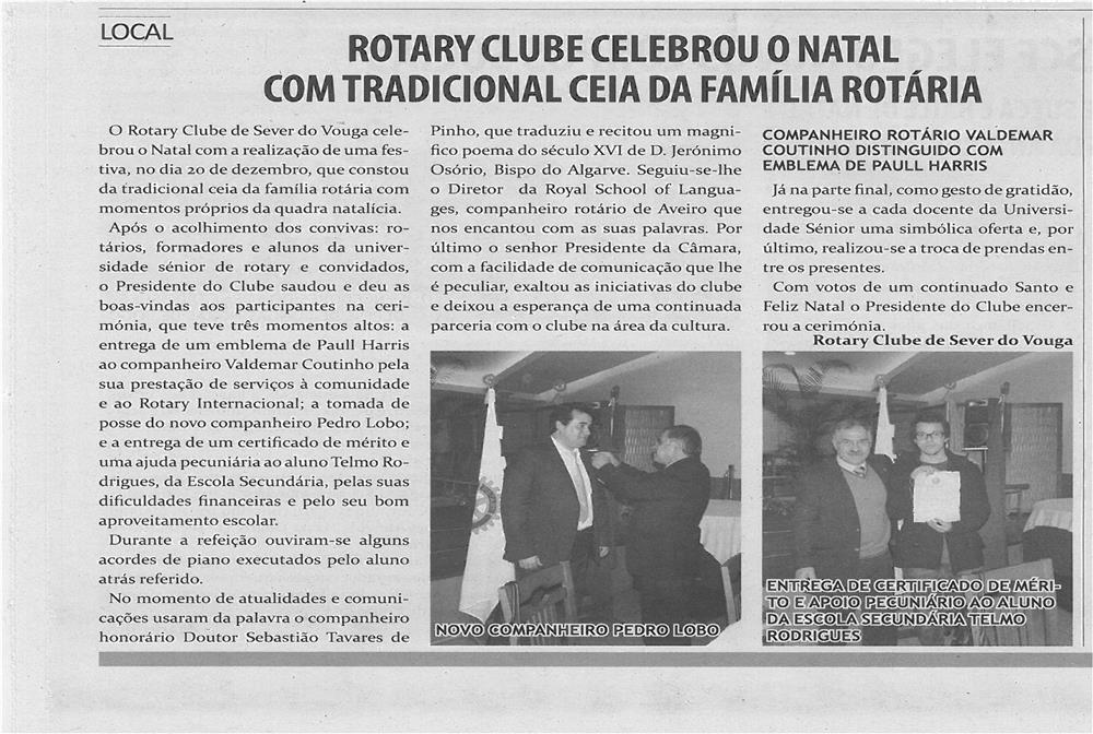 TV-fev13-p8-Rotary Clube celebrou o Natal com tradicional ceia da família rotária