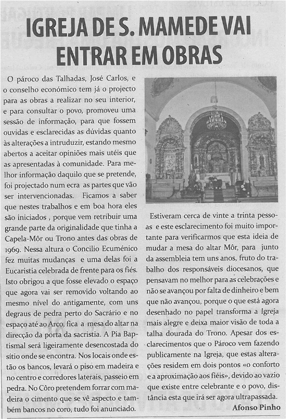 TV-abr13-p8-Igreja de S. Mamede vai entrar em obras