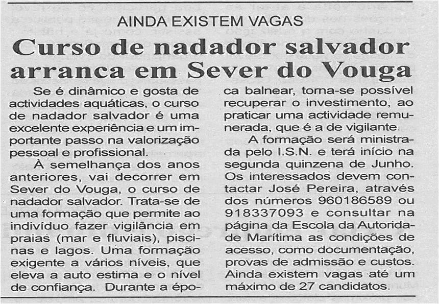 BV-1ªjun13-p4-Curso de nadador salvador arranca em Sever do Vouga
