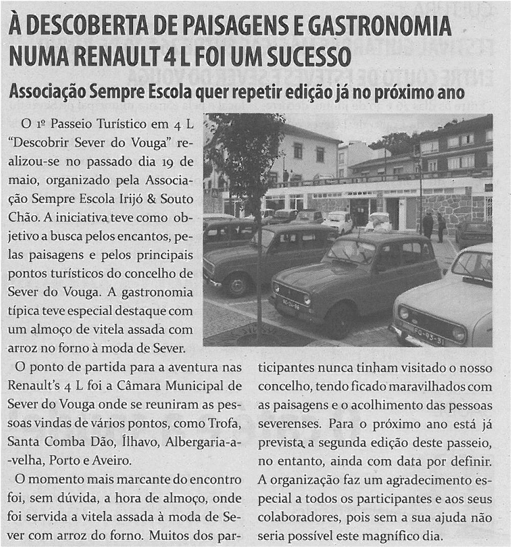TV-jun13-p18-À descoberta de paisagens e gastronomia numa Renault 4L foi um sucesso