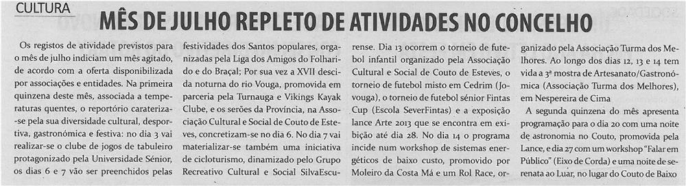 TV-jul13-p18-Mês de julho repleto de atividades no concelho