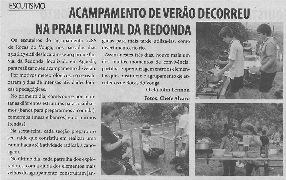 TV-ago13-p7-Acampamento de verão decorreu na Praia Fluvial da Redonda