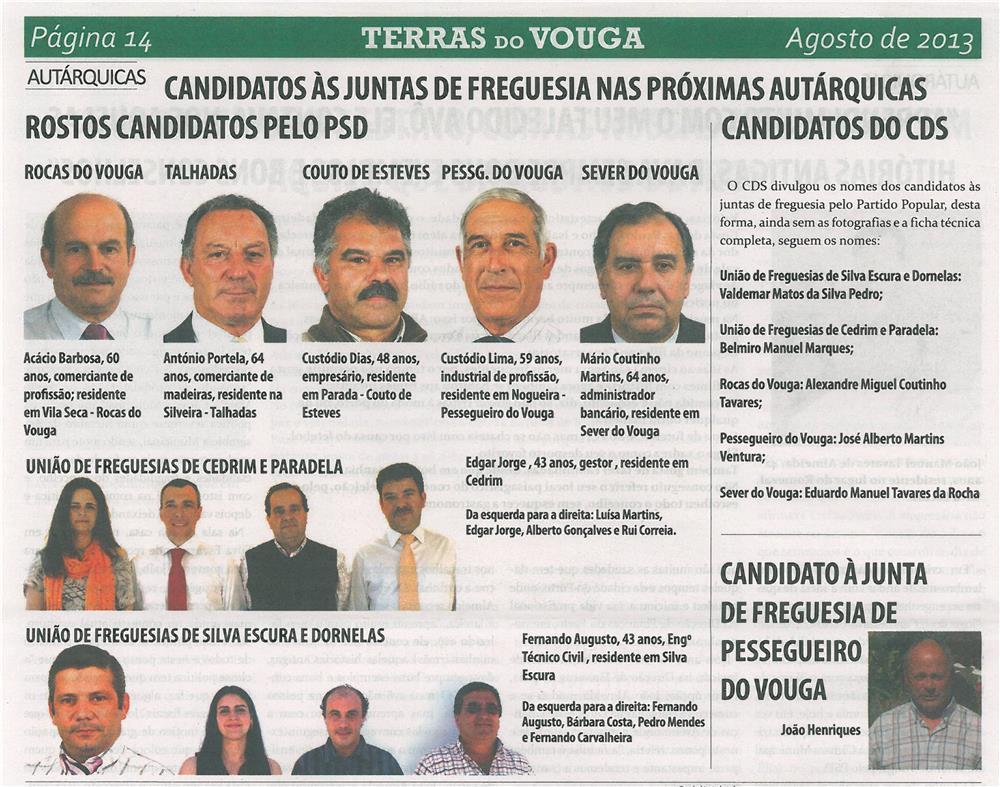 TV-ago13-p14-Candidatos às juntas de freguesia nas próximas autárquicas