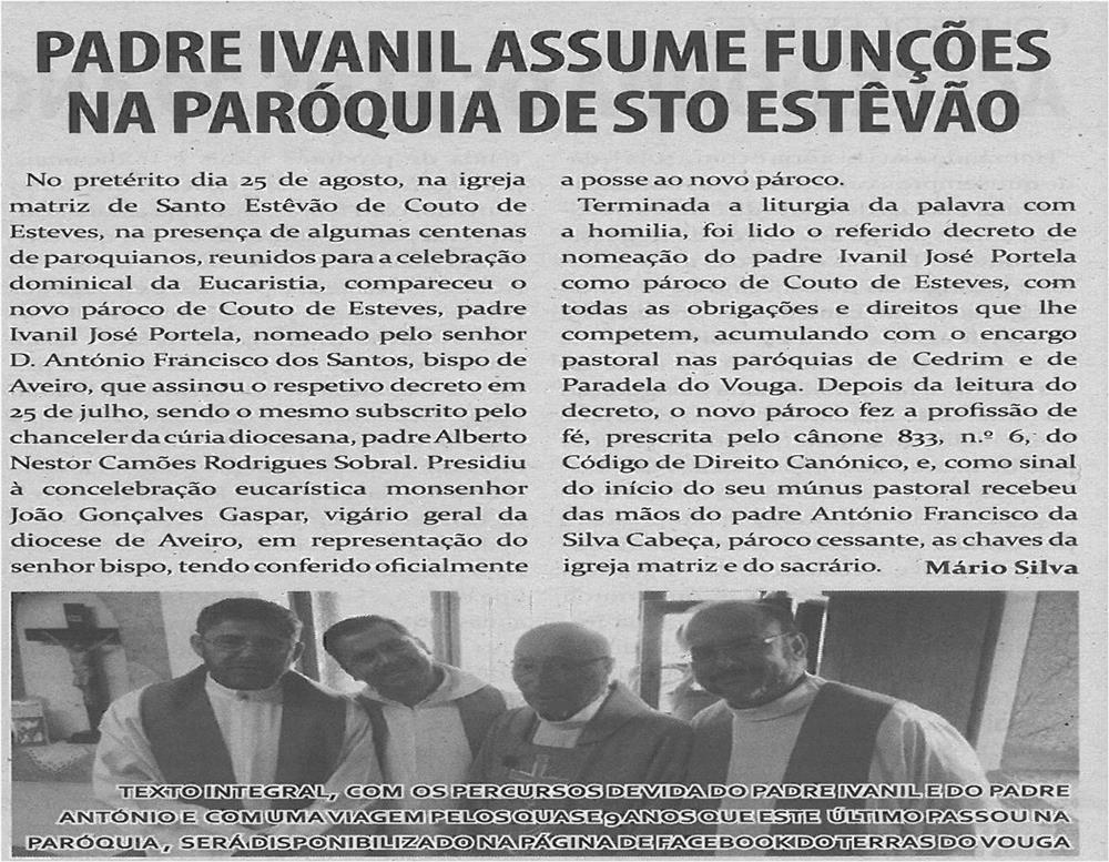 TV-set13-p8-Padre Ivanil assume funções na Paróquia de Santo Estevão