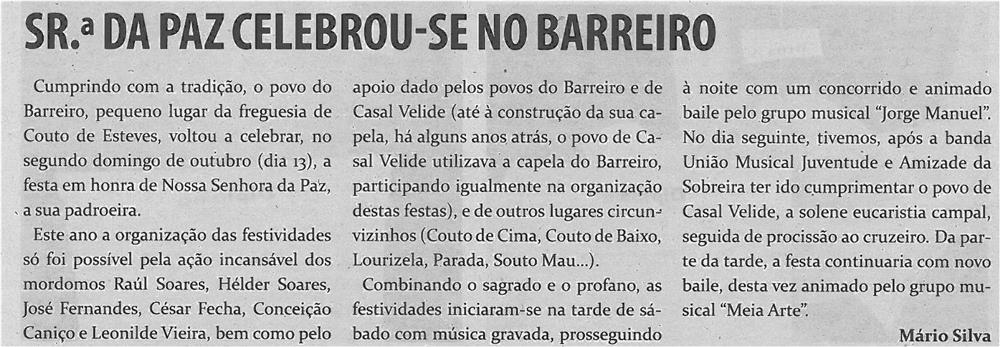 TV-nov13-p12-Sra. da Paz celebrou-se no Barreiro