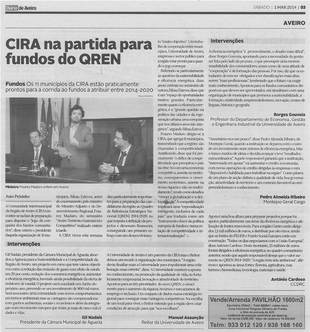 DA-1mar14-p3-CIRA na partida para fundos do QREN