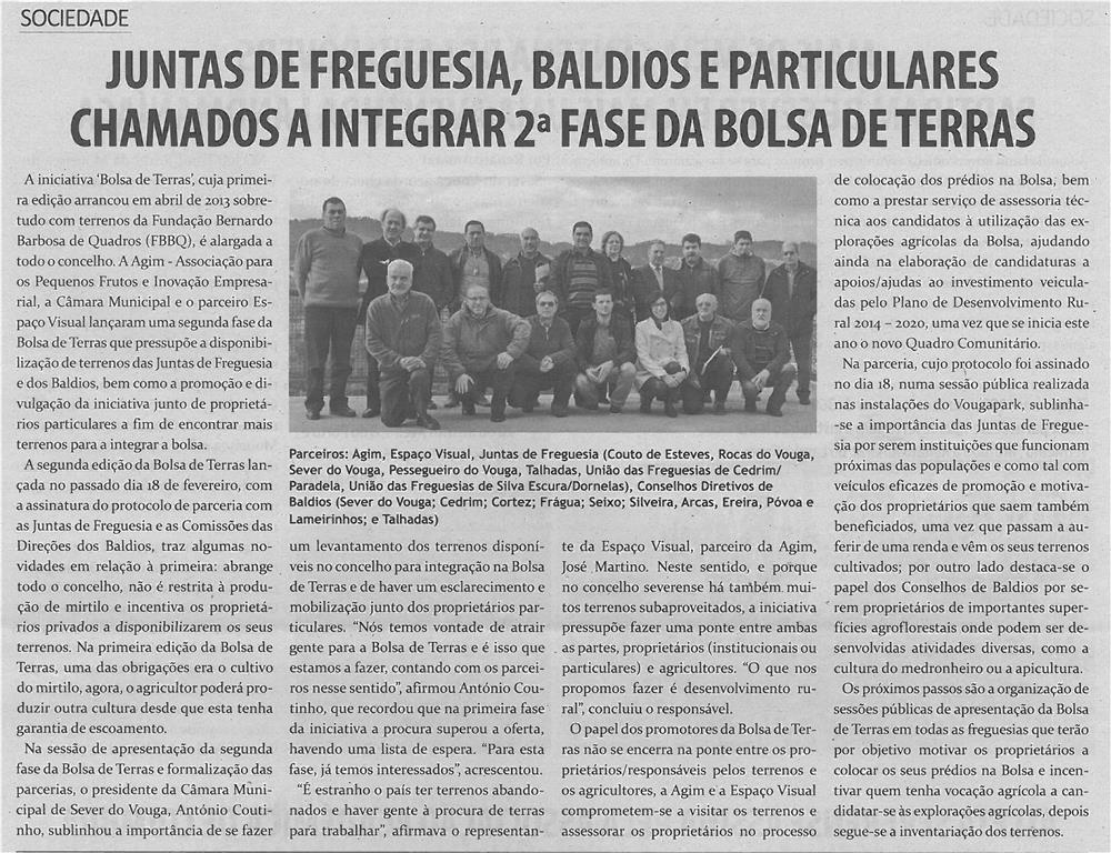 TV-mar14-p9-Juntas de freguesia, baldios e particulares chamados a integrar a 2ª fase da Bolsa de Terras