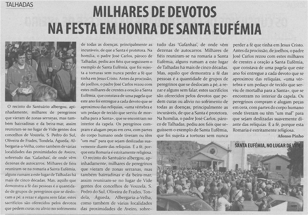 TV-mar14-p11-Milhares de devotos na festa em honra de Santa Eufémia
