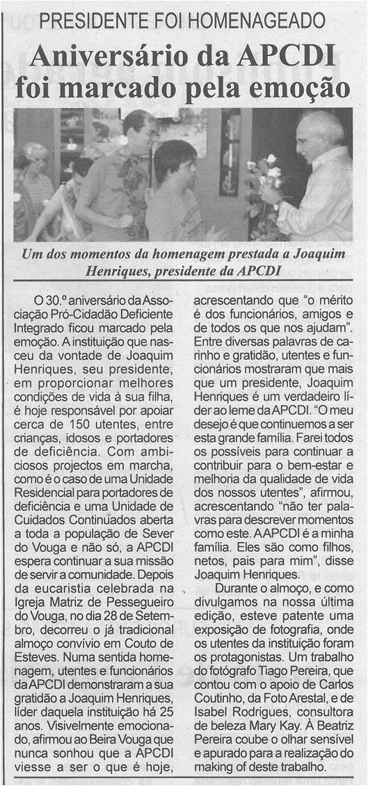 BV-1ªout'14-p3-Aniversário da APCDI foi marcado pela emoção : Presidente foi homenageado.jpg