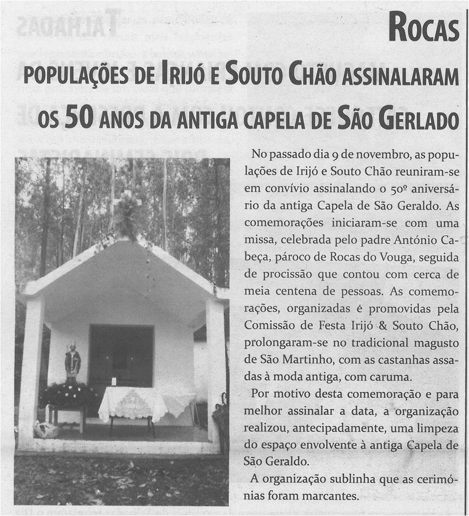 TV-dez.'14-p.8-Populações de Irijó e Souto Chão assinalaram os 50 anos da antiga Capela de São Geraldo.jpg