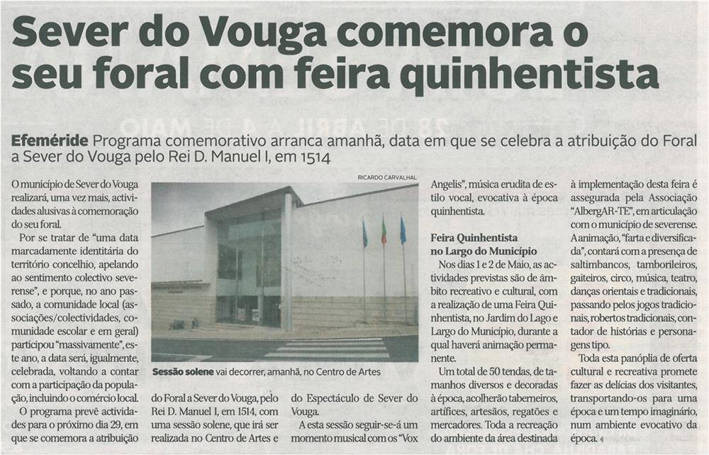 DA-28abr.'15-p.14-Sever do Vouga comemora o seu foral com feira quinhentista.jpg