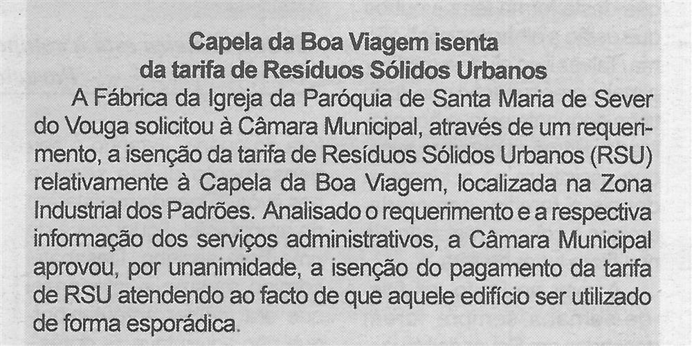 BV-2.ªmaio'15-p.4-Capela da Boa Viagem isenta da tarifa de Resíduos Sólidos Urbanos.jpg