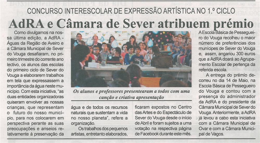 BV-2.ªmaio'15-p.8-AdRA e Câmara de Sever atribuem prémio : concurso interescolar de expressão artística no 1.º Ciclo.jpg