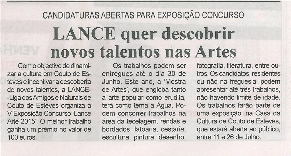 BV-2.ªmaio'15-p.8-LANCE quer descobrir novos talentos nas Artes : candidaturas abertas para exposição concurso.jpg