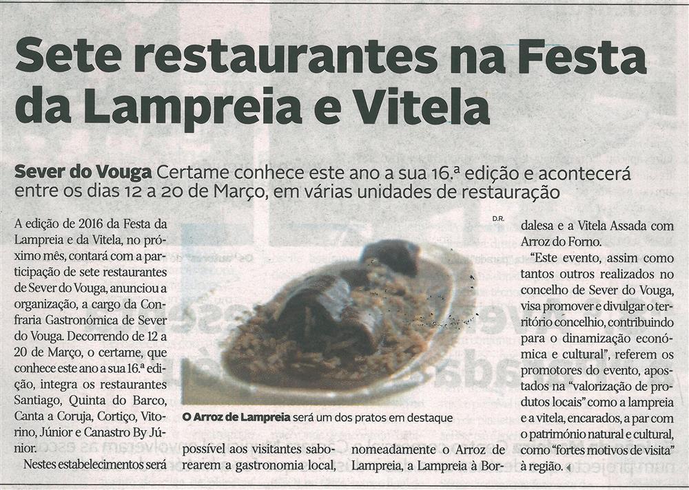 DA-20fev.'16-p.13-Sete restaurantes na Festa da Lampreia e Vitela : o arroz de lampreia será um dos pratos em destaque.jpg