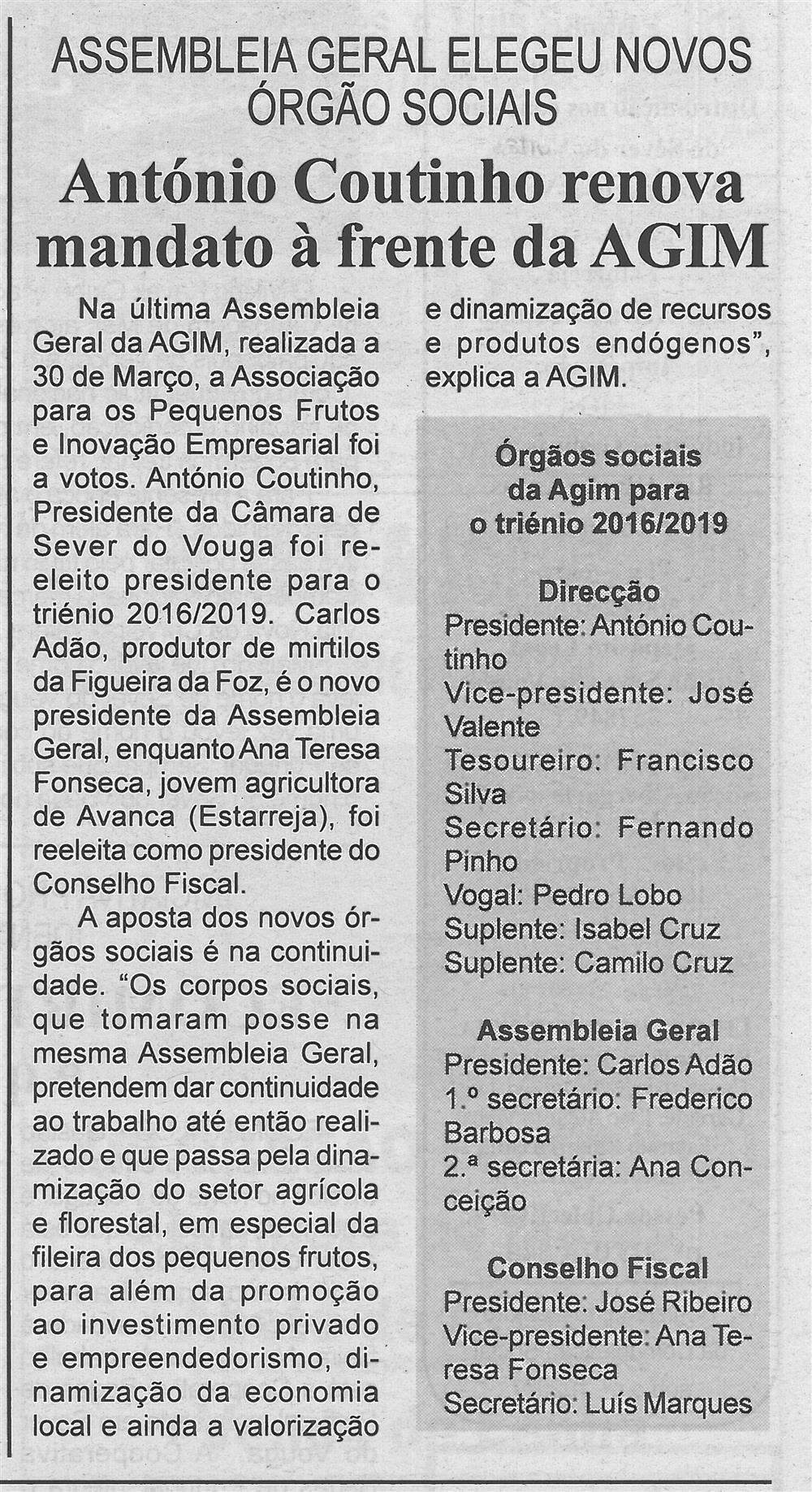 BV-1.ªabr.'16-p.3-António Coutinho renova mandato à frente da AGIM : Assembleia Geral elegeu novos órgãos sociais.jpg