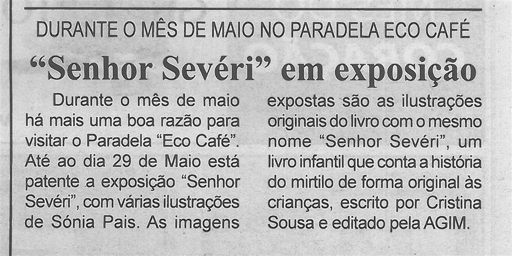 BV-1.ªmaio'16-p.2-Senhor Sevéri em exposição : durante o mês de maio no Paradela Eco Café.jpg