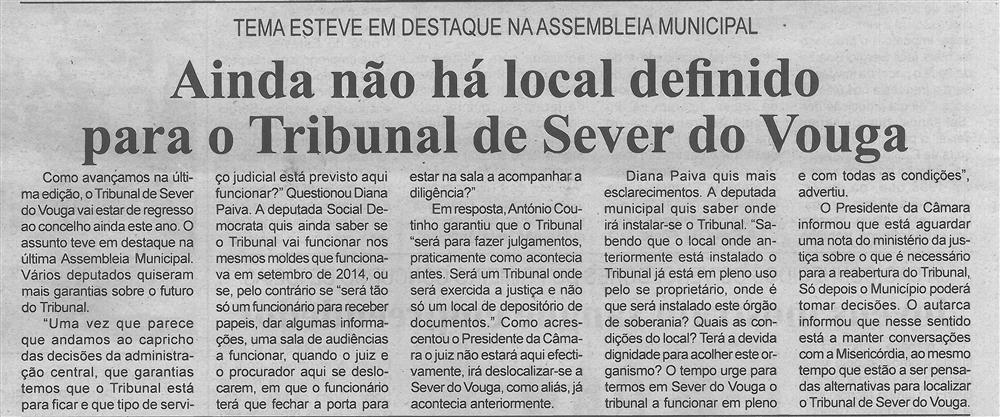 BV-1.ªmaio'16-p.4-Ainda não há local definido para o Tribunal de Sever do Vouga : tema esteve em destaque na Assembleia Municipal.jpg