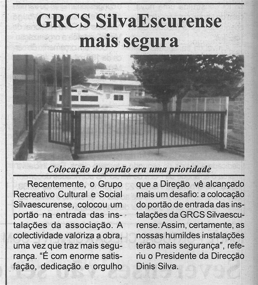 BV-2.ªjun.'16-p.6-GRCS SilvaEscurense mais segura : colocação do portão era uma prioridade.jpg