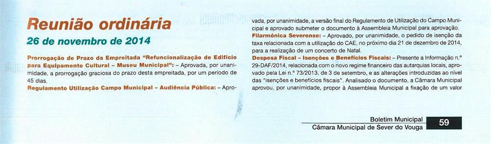 BoletimMunicipal-n.º32-nov.'15-p.59-Reunião ordinária [de] 26 de novembro de 2014 [1.ª de duas partes] : deliberações.jpg