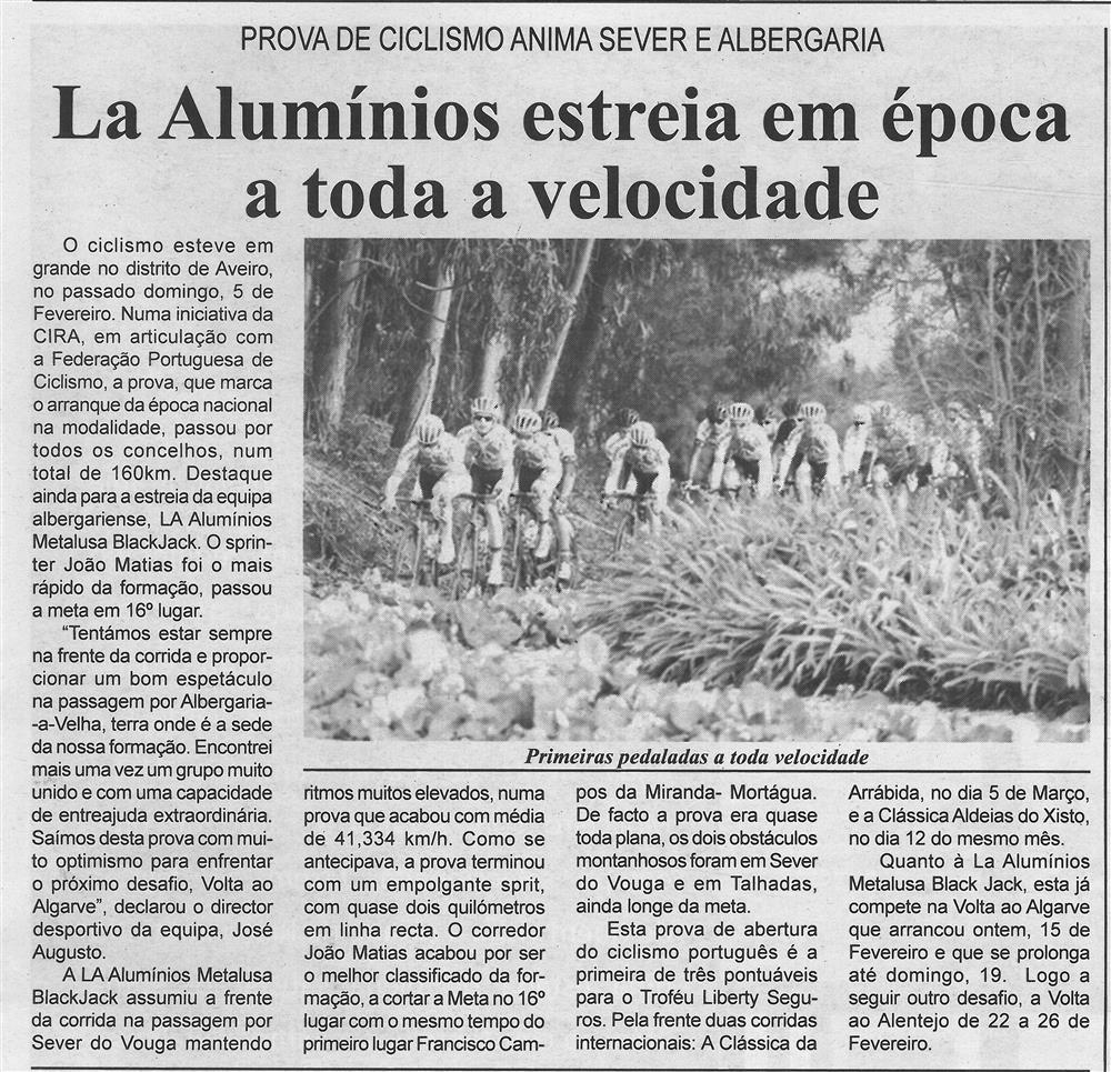 BV-2.ªfev.'17-p.7-La Alumínios estreia em época a toda a velocidade : prova de ciclismo anima Sever e Albergaria.jpg
