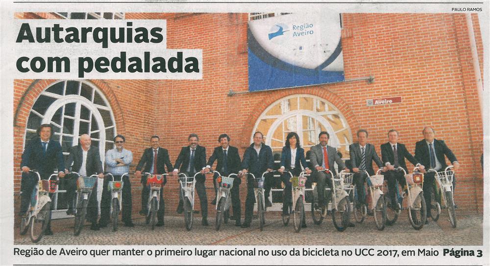 DA-21abr.'17-p.1-Autarquias com pedalada : Região de Aveiro quer manter o primeiro lugar nacional no uso da bicicleta no UCC 2017.jpg