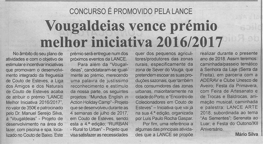 BV-1.ªfev.'18-p.5-Vougaldeias vence prémio melhor iniciativa 2016-2017 : concurso é promovido pela LANCE.jpg