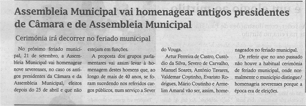 TV-jul'18-p.4-Assembleia Municipal vai homenagear antigos presidentes de Câmara e de Assembleia Municipal : cerimónia irá decorrer no feriado municipal.jpg