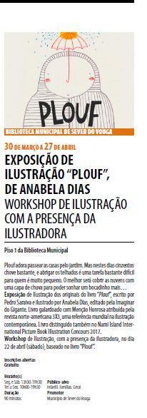 AgendaRBM-abr.'17-p.2-Biblioteca Municipal de Sever do Vouga : exposição de ilustração Plouf, de Anabela Dias : workshop de ilustração com a presença da ilustradora.JPG