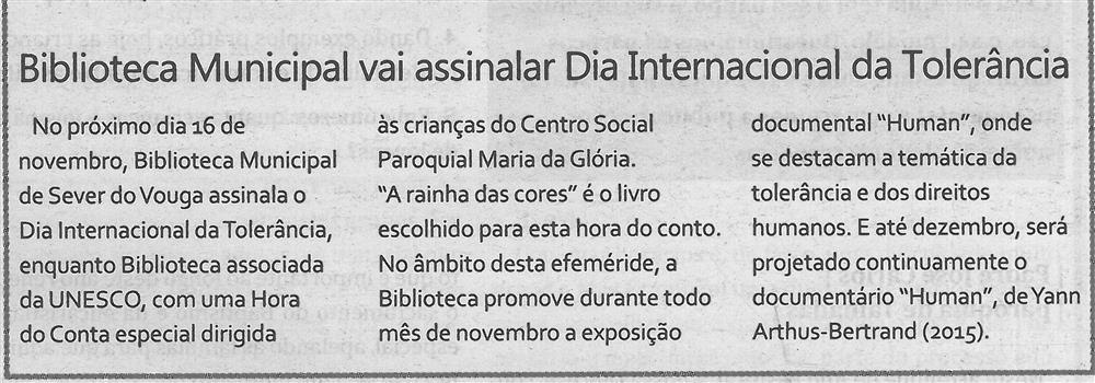 TV-nov.'18-p.5-Biblioteca Municipal vai assinalar Dia Internacional da Tolerância.jpg