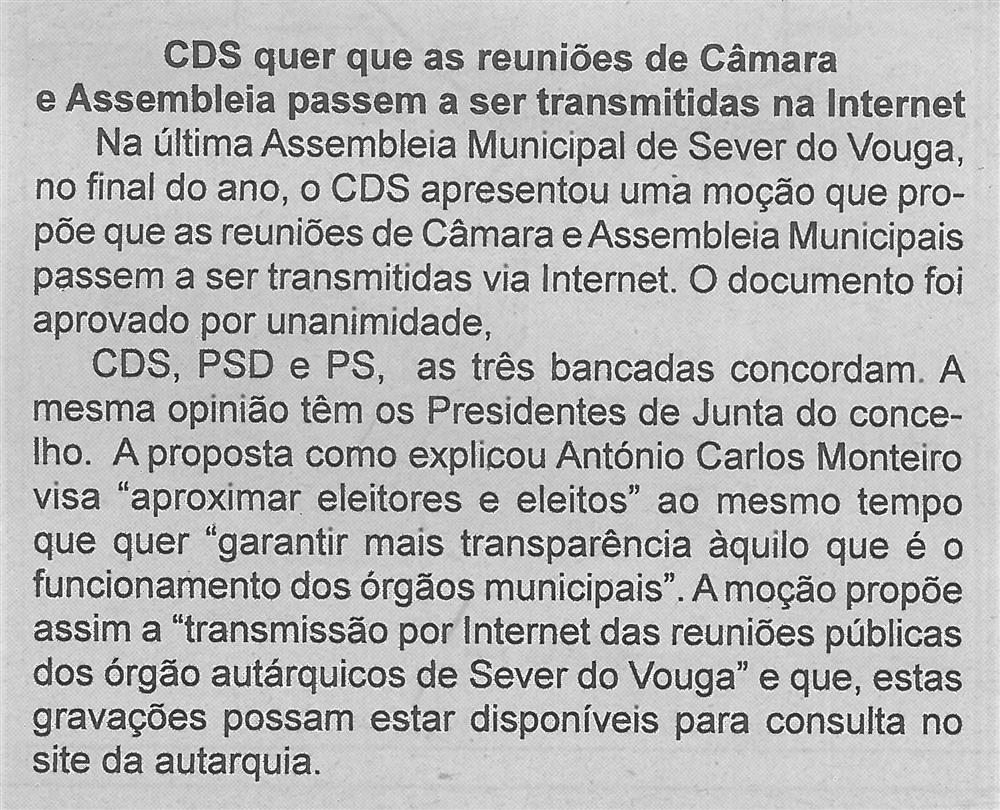 CDS quer que as reuniões de Câmara e Assembleia passem a ser transmitidas na Internet.jpg