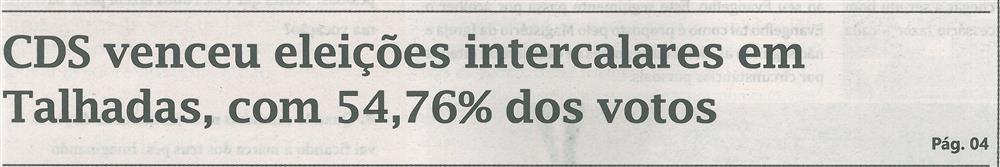 CDS venceu eleições intercalares em Talhadas, com 54,76% dos votos.jpg