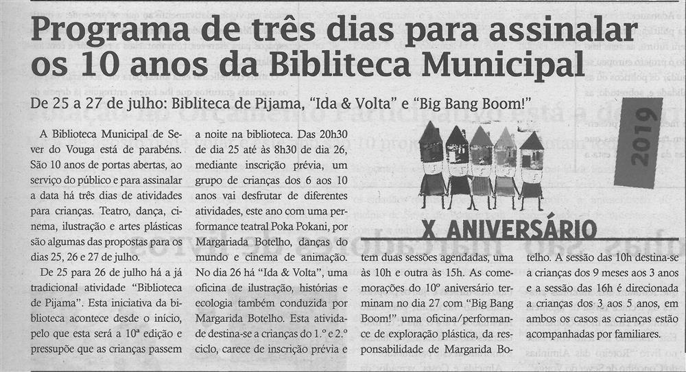 TV-jul.'19-p.4-Programa de três dias para assinalar os 10 anos da Biblioteca Municipal.jpg