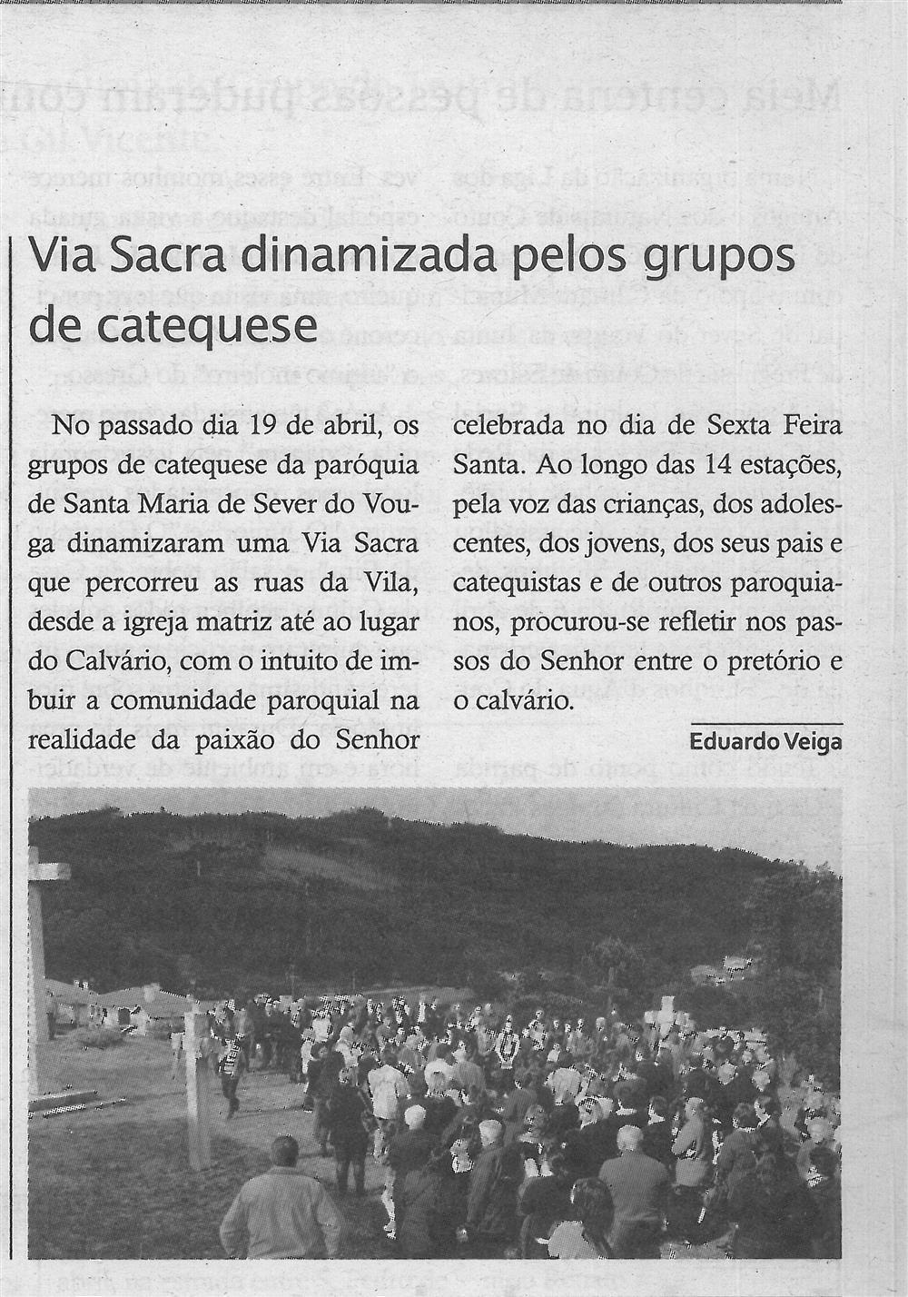 TV-maio'19-p.10-Paróquias : Paróquia de Santa Maria, Sever do Vouga : Via Sacra dinamizada pelos grupos de catequese.jpg